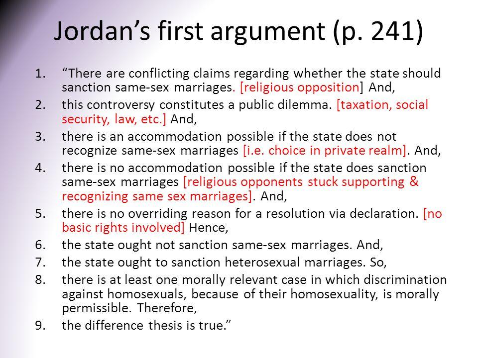 Jordan's first argument (p. 241)