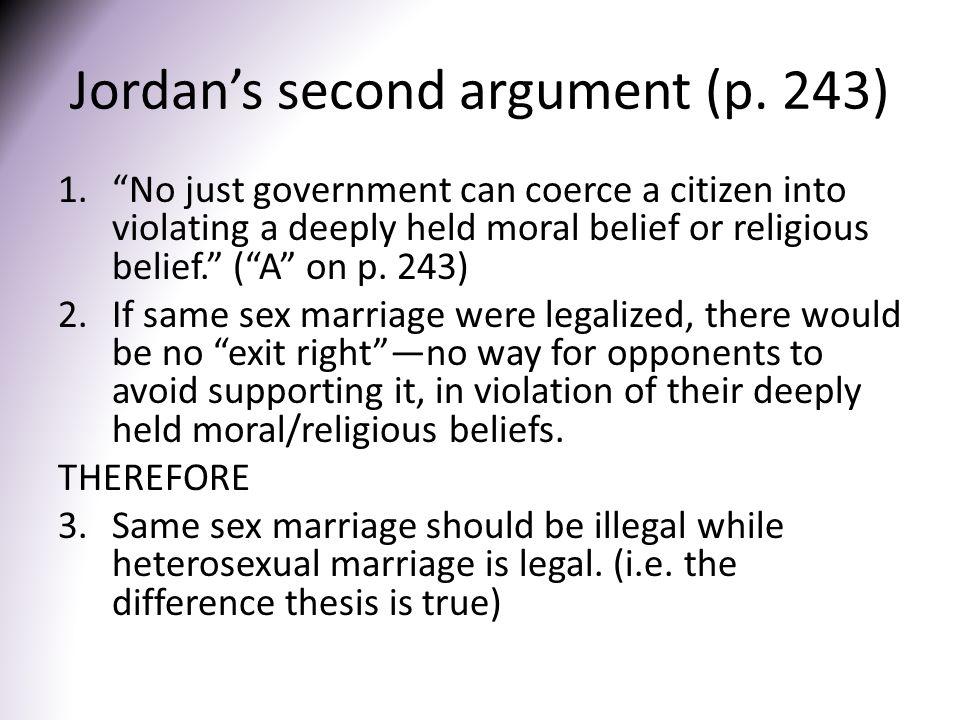 Jordan's second argument (p. 243)