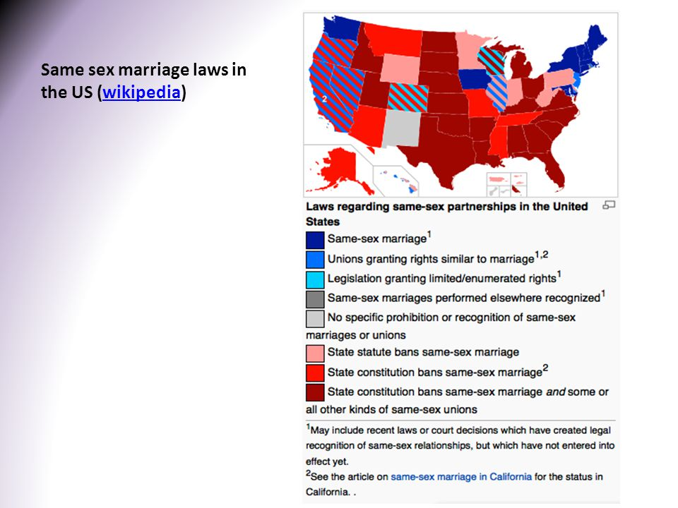 Same sex marriage laws in the US (wikipedia)