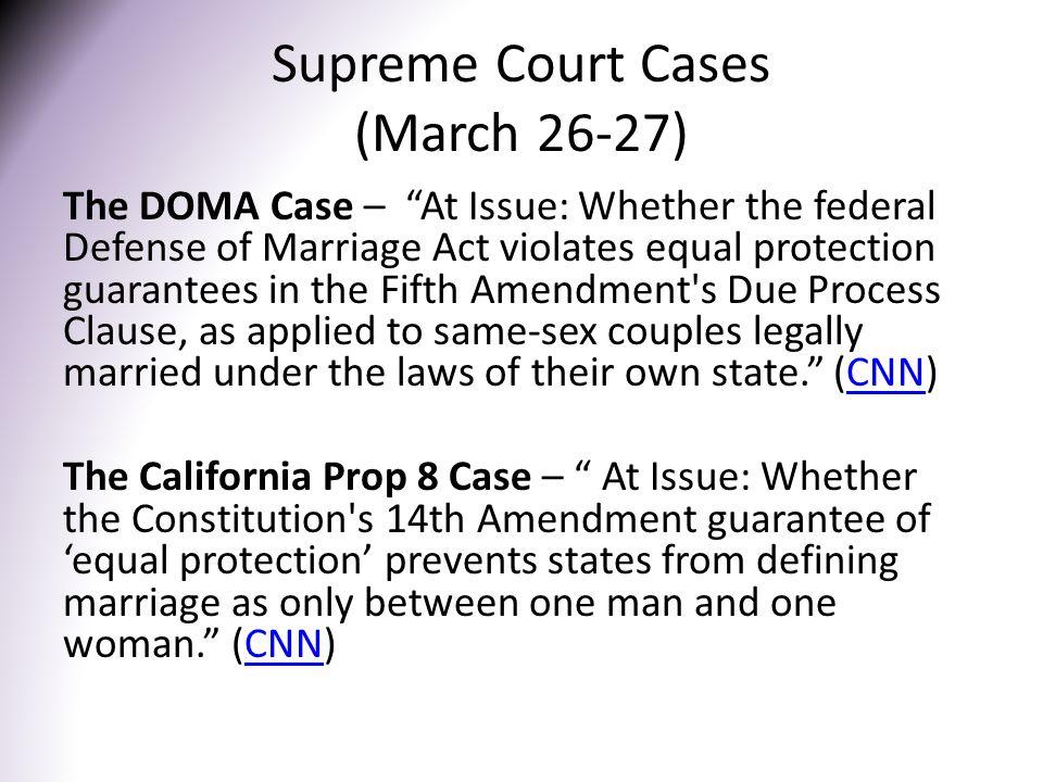 Supreme Court Cases (March 26-27)