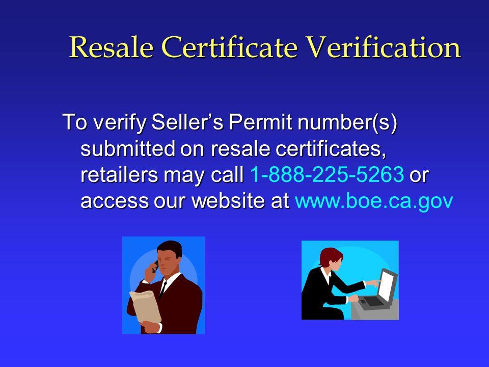 Resale Certificate Verification