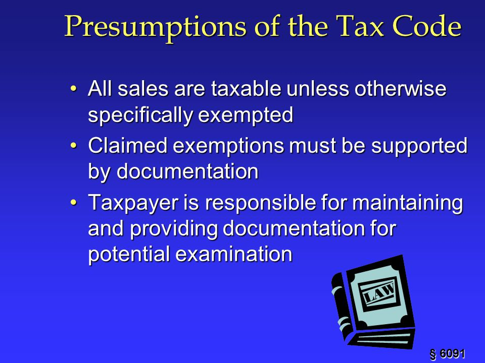 Presumptions of the Tax Code
