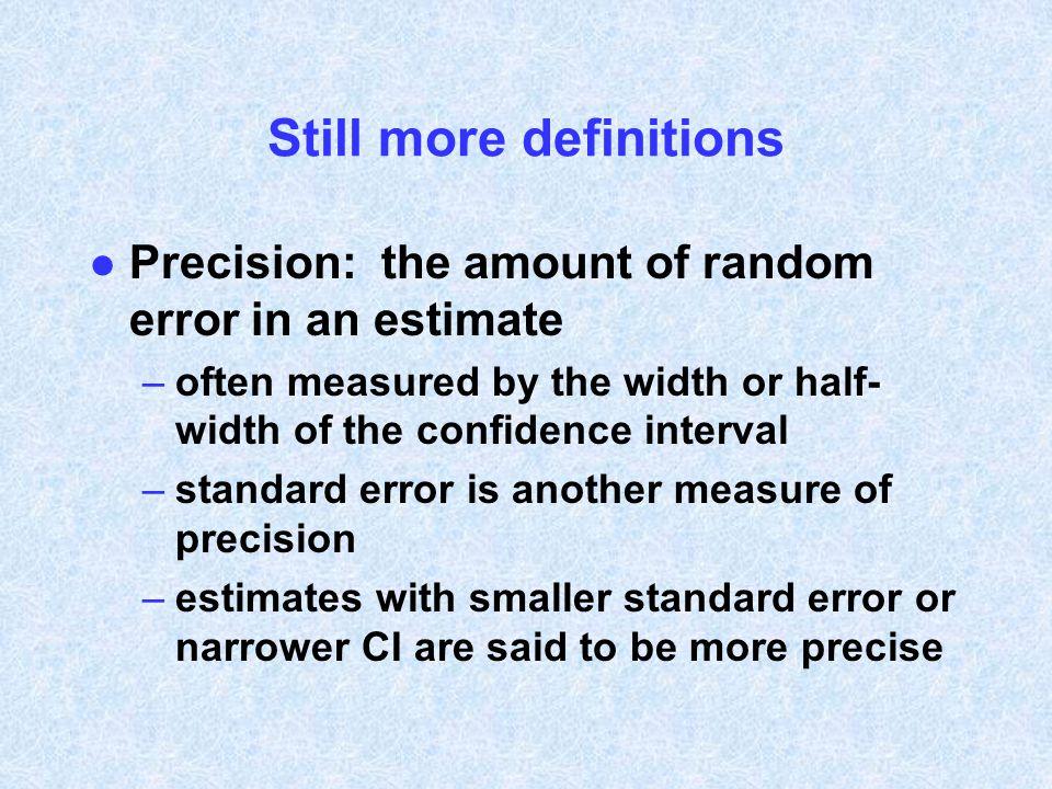 Still more definitions