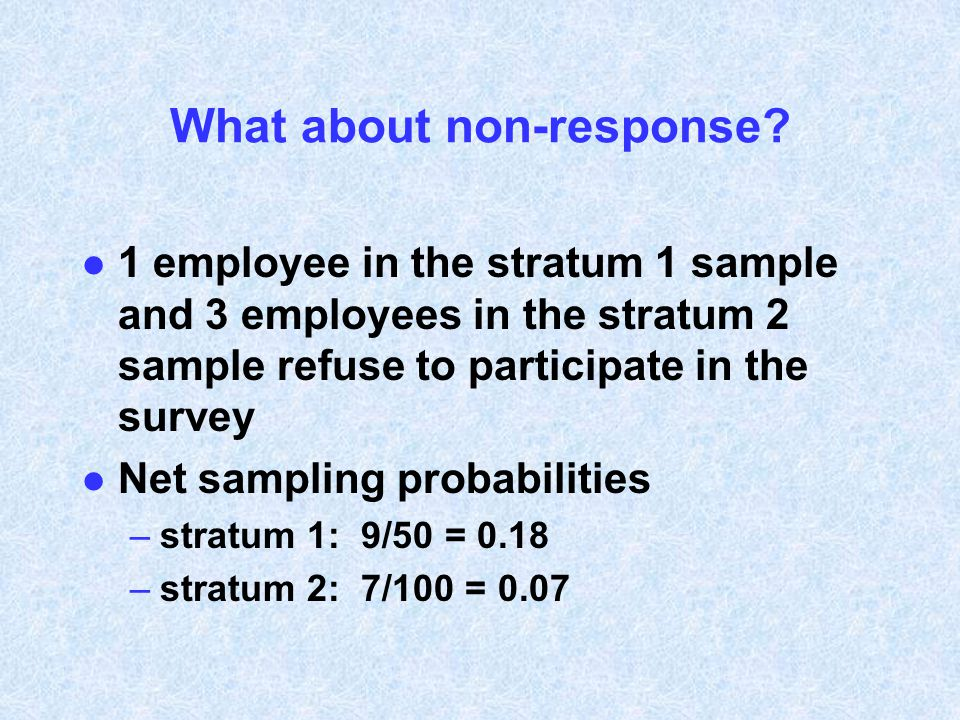 What about non-response