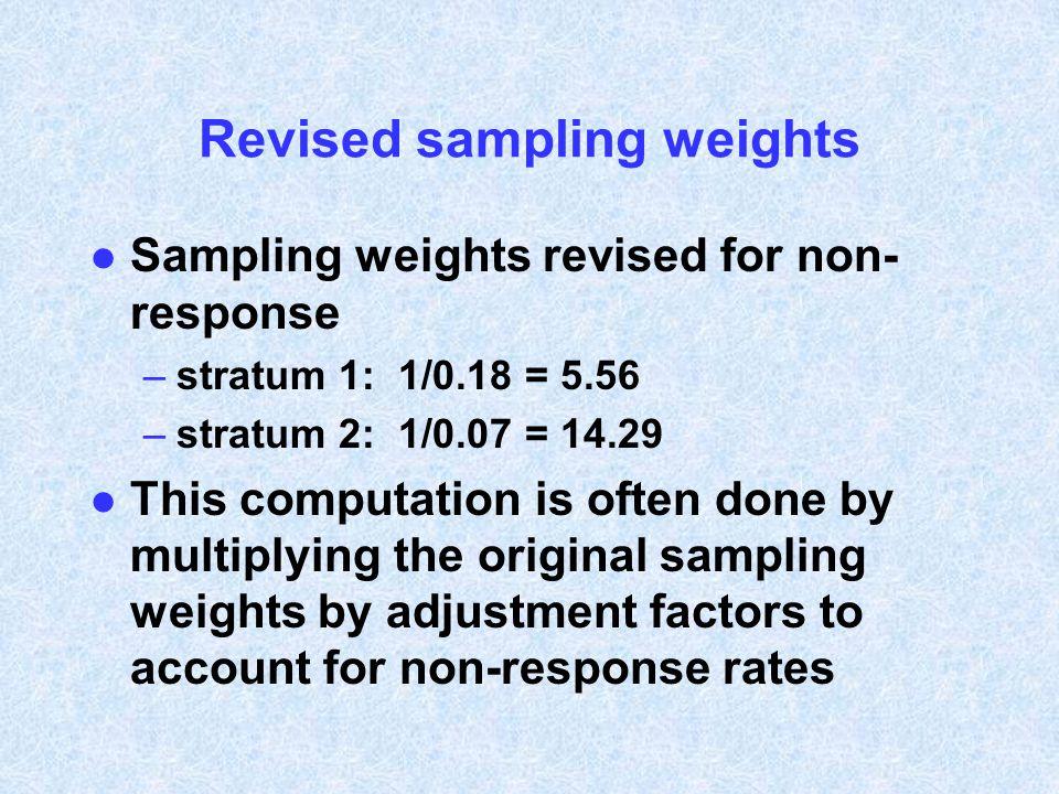 Revised sampling weights
