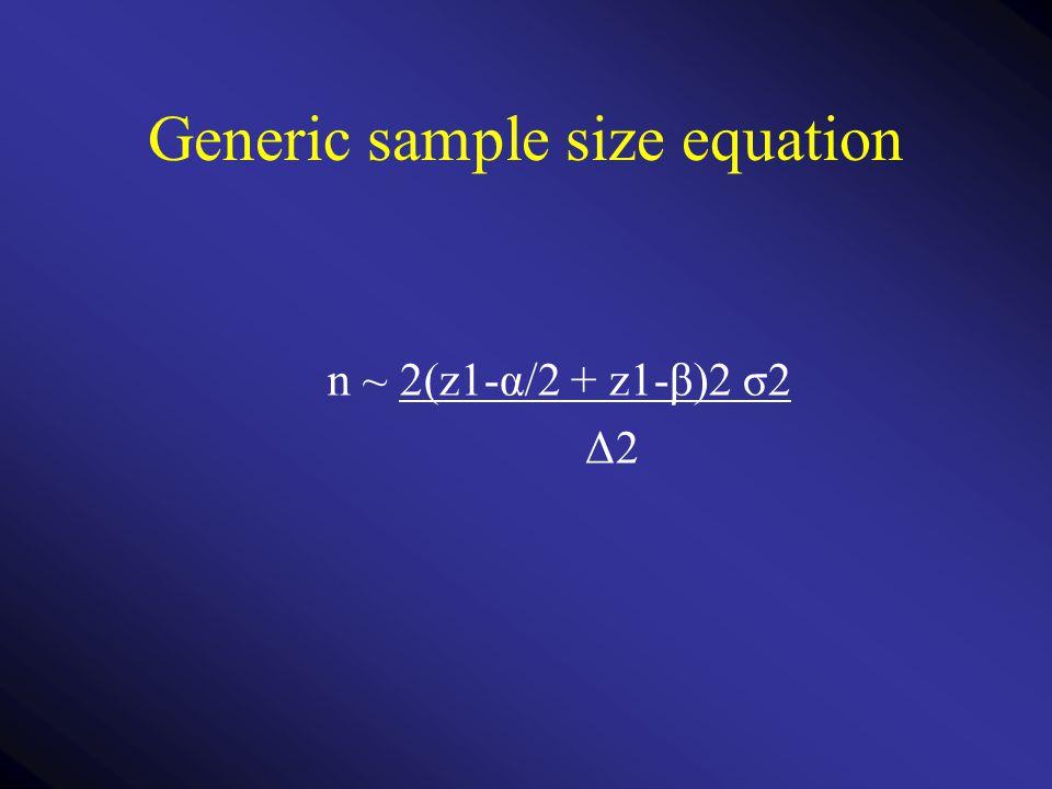 Generic sample size equation