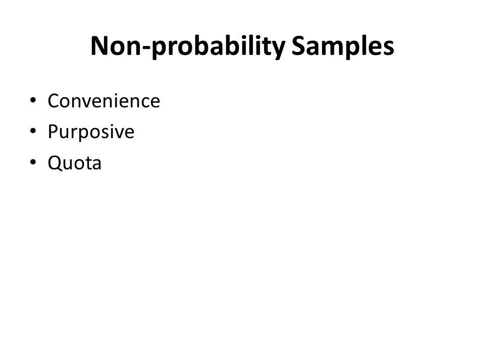 Non-probability Samples