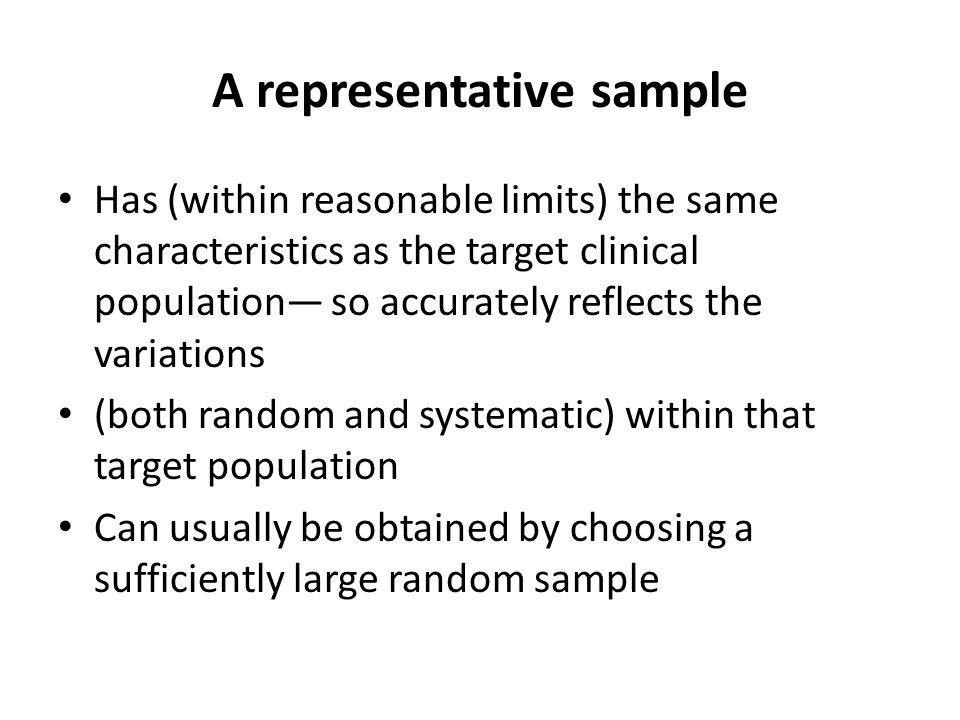 A representative sample