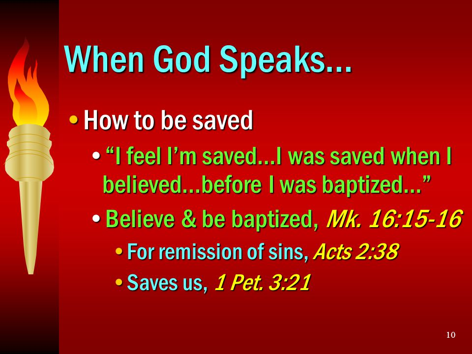 When God Speaks… How to be saved