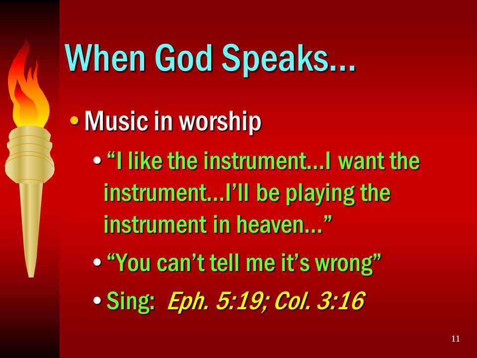 When God Speaks… Music in worship