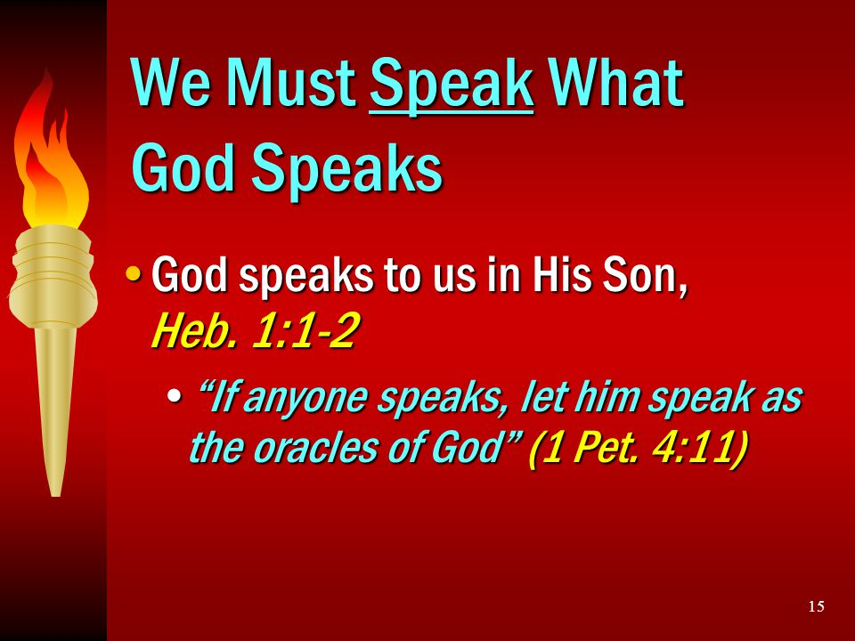 We Must Speak What God Speaks
