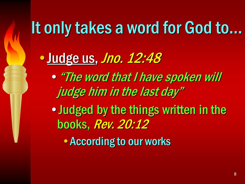 It only takes a word for God to…