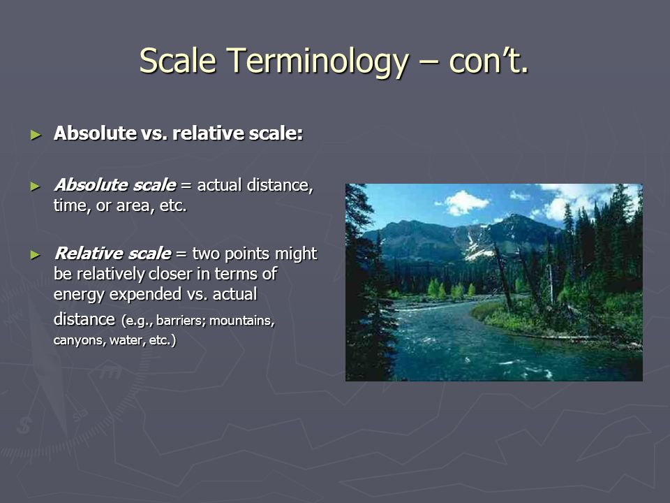 Scale Terminology – con't.