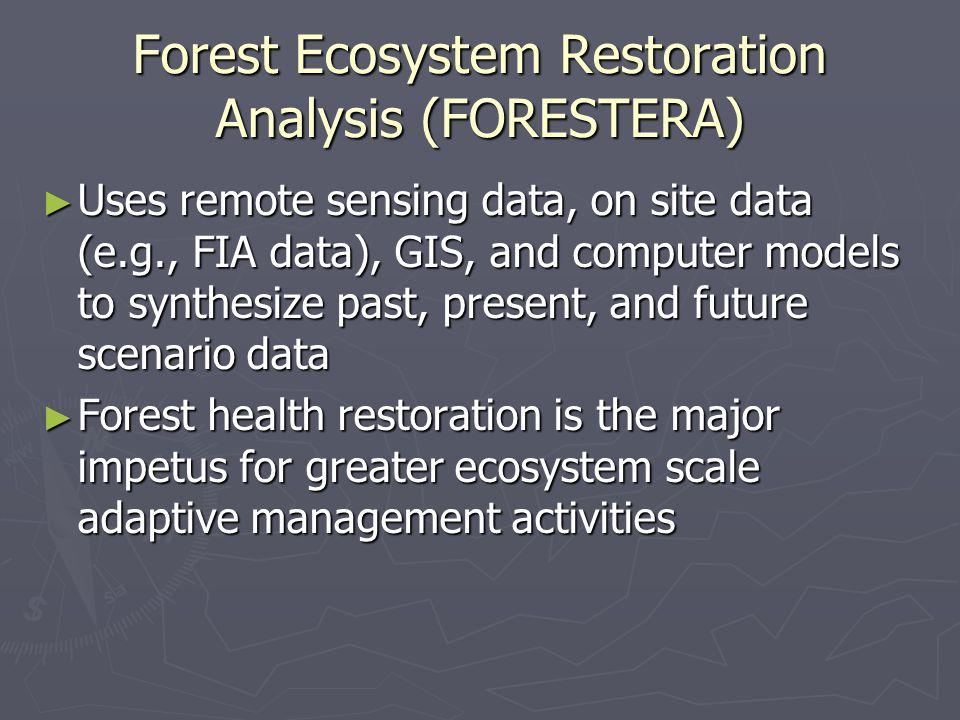 Forest Ecosystem Restoration Analysis (FORESTERA)