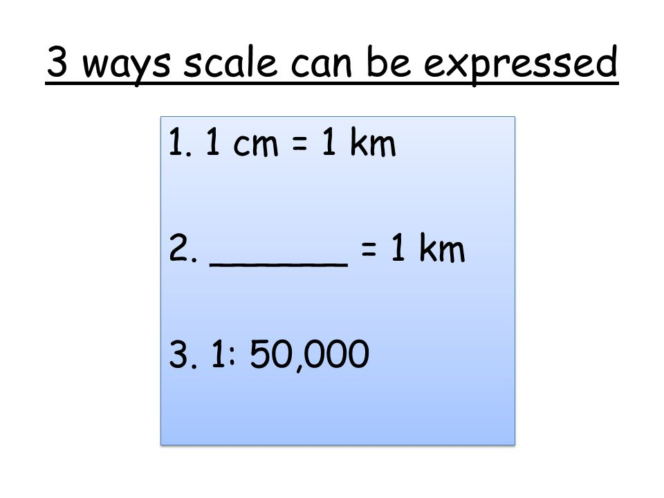 3 ways scale can be expressed