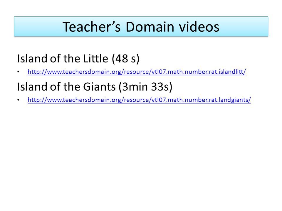 Teacher's Domain videos