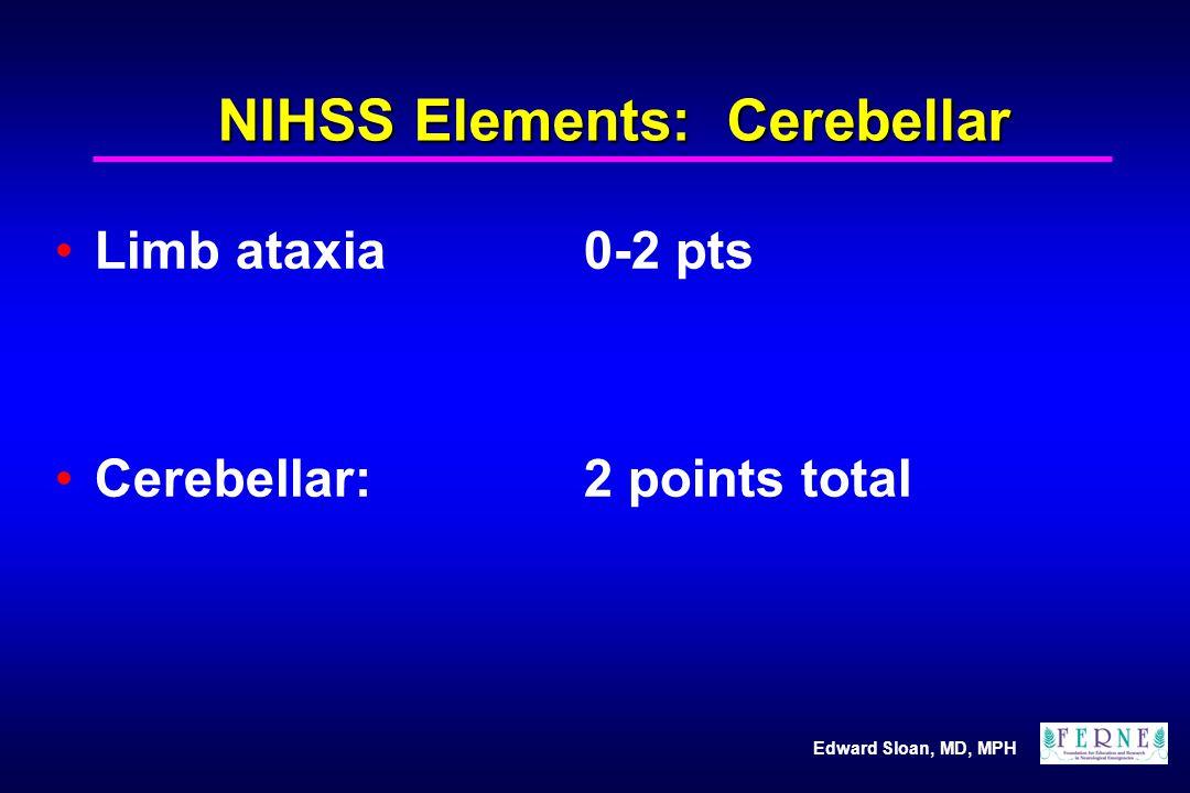NIHSS Elements: Cerebellar