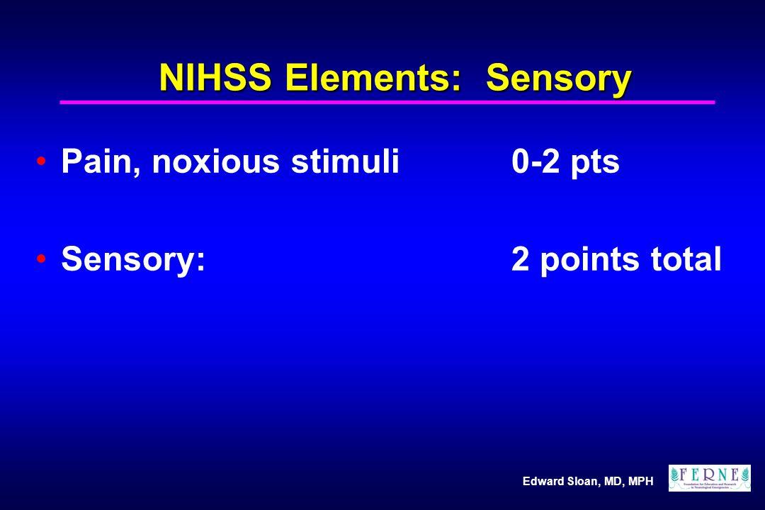NIHSS Elements: Sensory