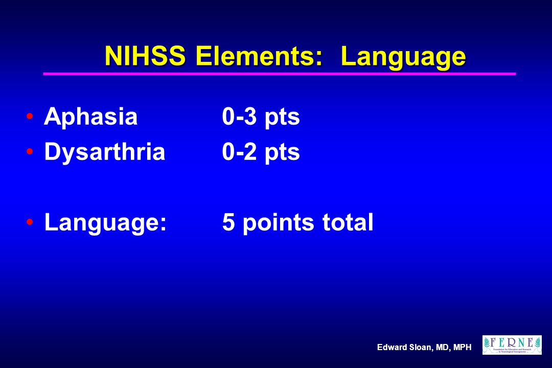 NIHSS Elements: Language