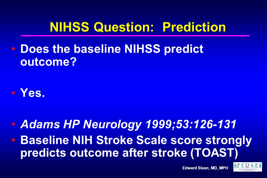 NIHSS Question: Prediction