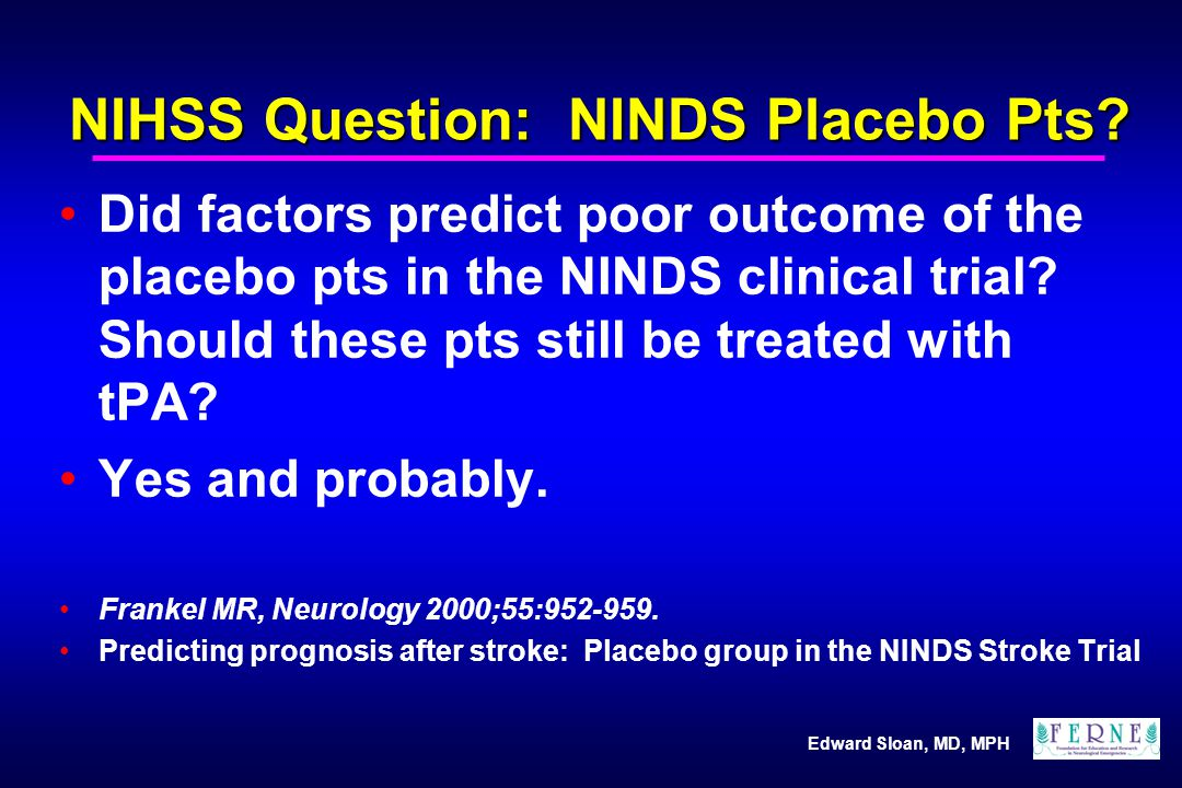 NIHSS Question: NINDS Placebo Pts