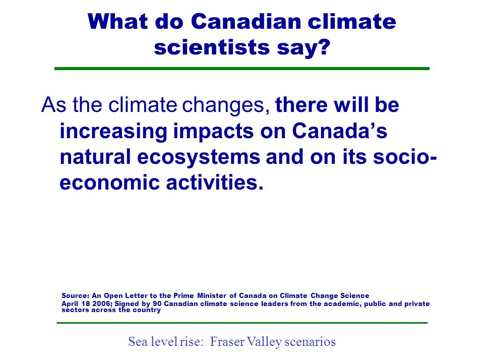 What do Canadian climate scientists say