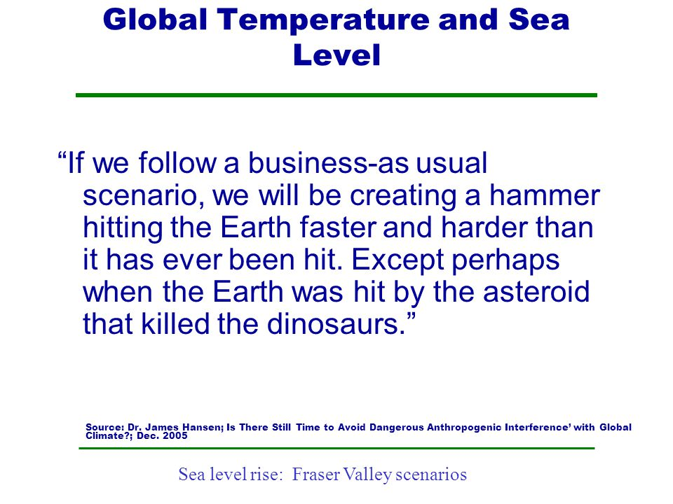 Global Temperature and Sea Level
