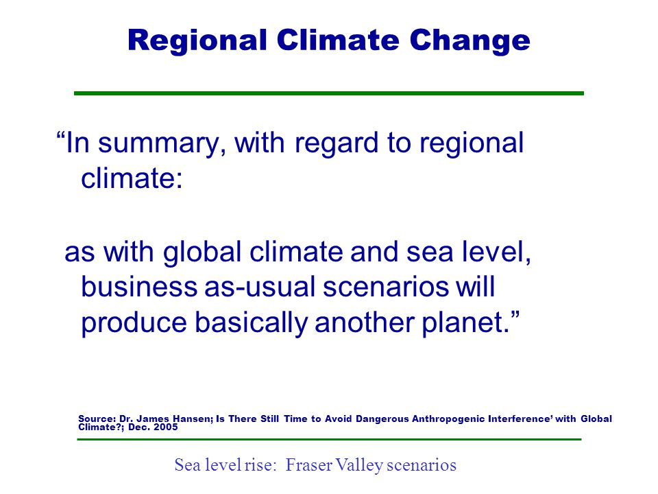 Regional Climate Change
