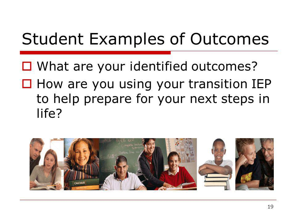 Student Examples of Outcomes