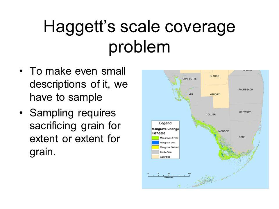 Haggett's scale coverage problem