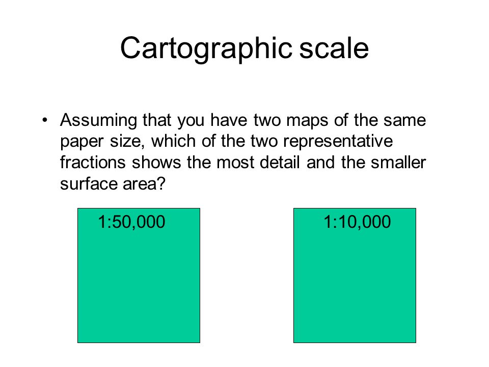 Cartographic scale