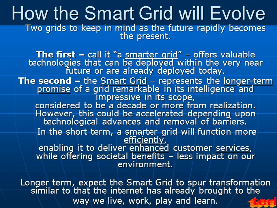 How the Smart Grid will Evolve