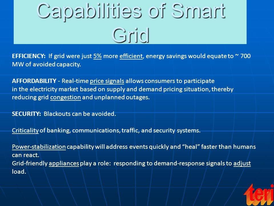 Capabilities of Smart Grid