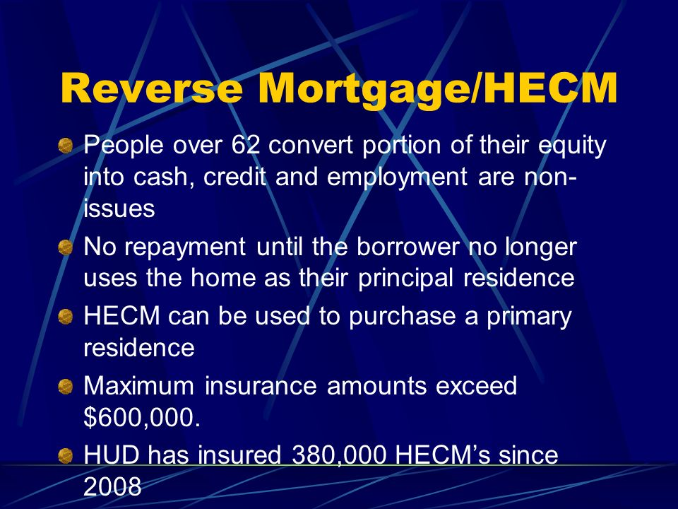 Reverse Mortgage/HECM
