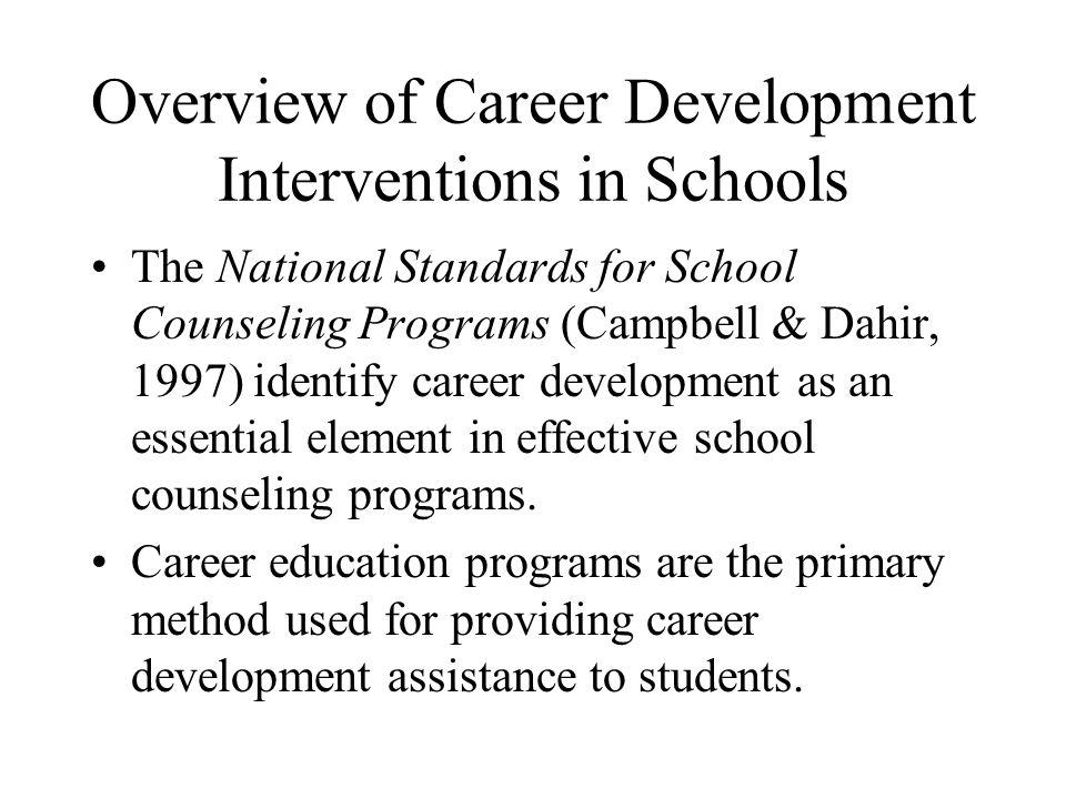 Overview of Career Development Interventions in Schools