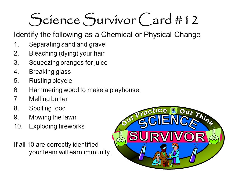Science Survivor Card #12