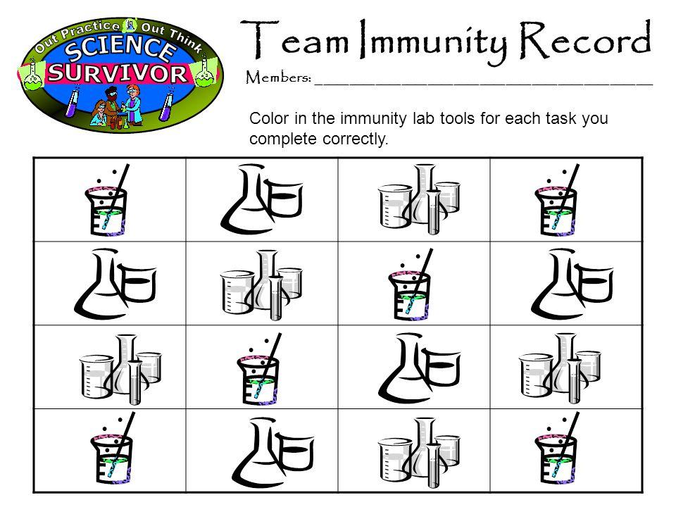 Team Immunity Record Members: _______________________________________