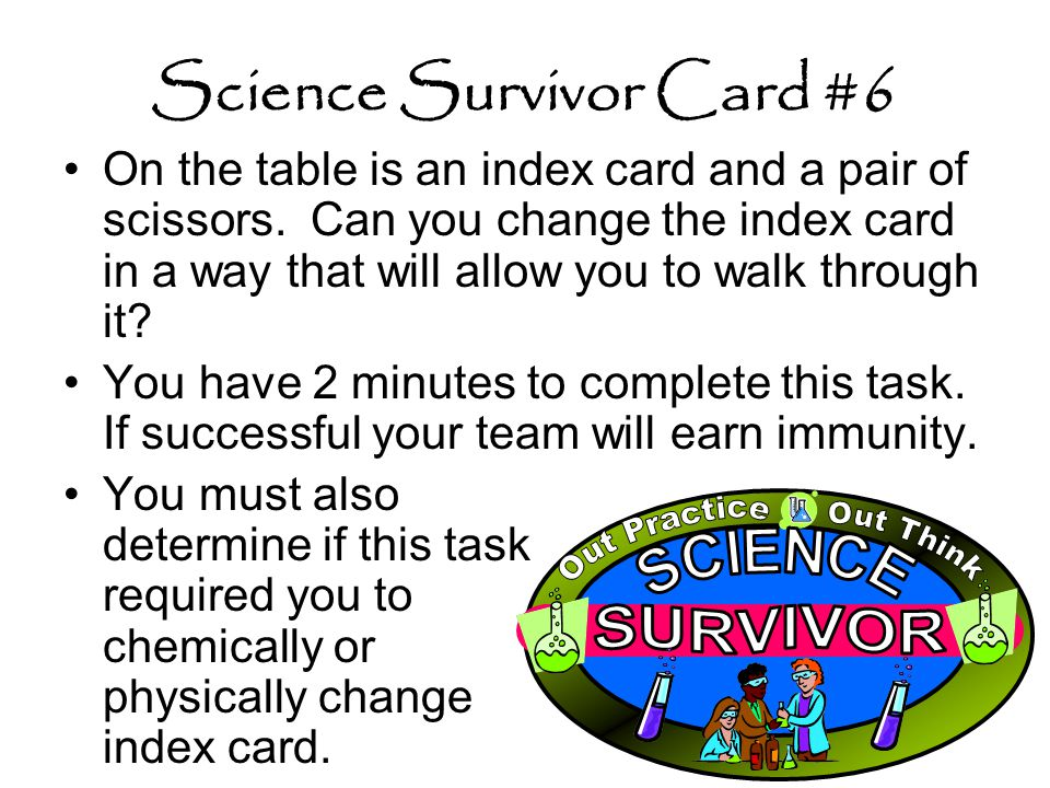 Science Survivor Card #6