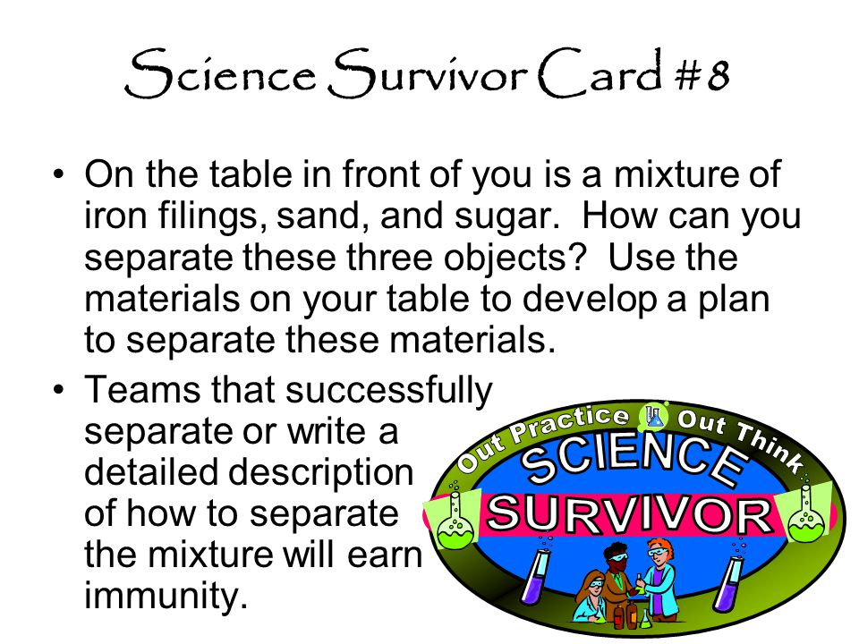 Science Survivor Card #8