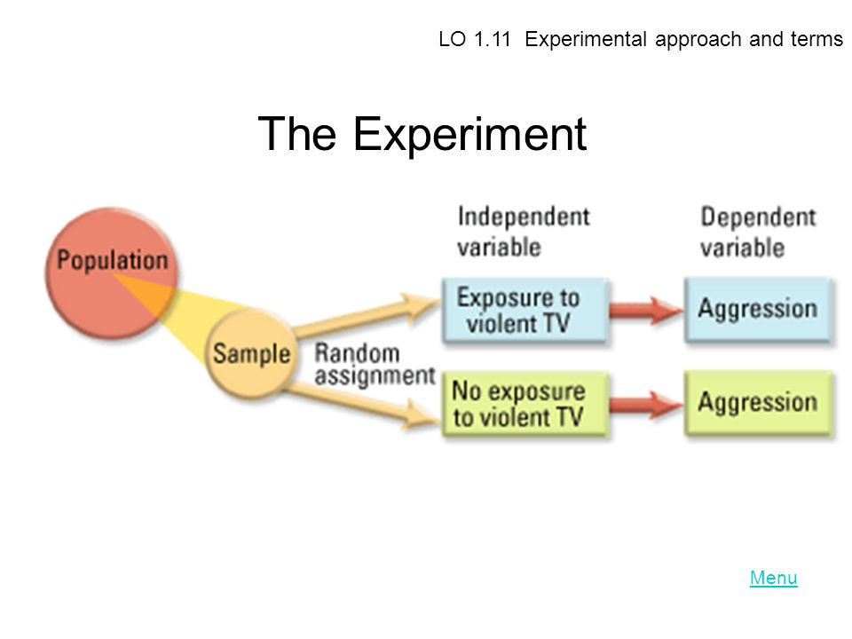 LO 1.11 Experimental approach and terms