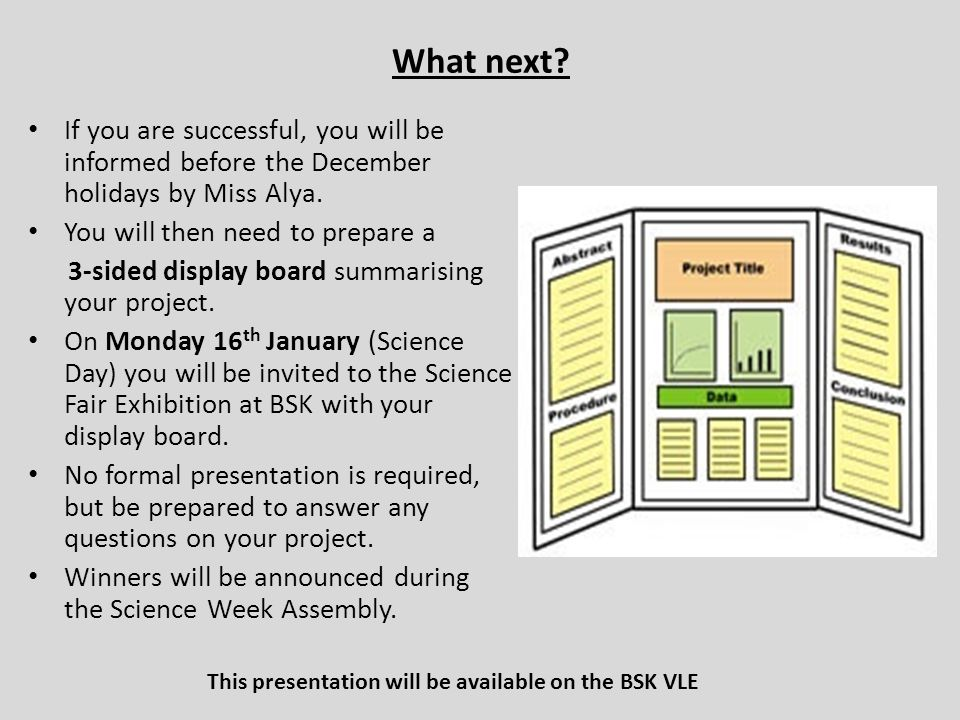 This presentation will be available on the BSK VLE