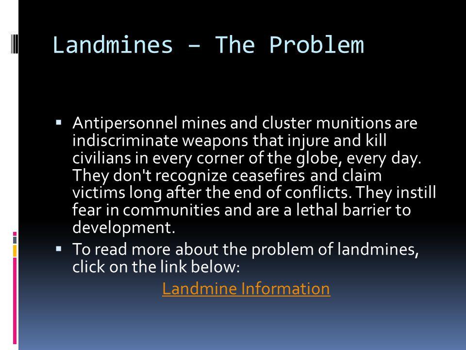 Landmines – The Problem