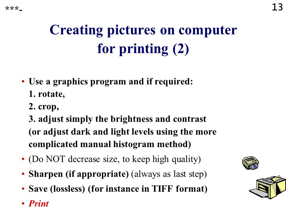 Creating pictures on computer for printing (2)