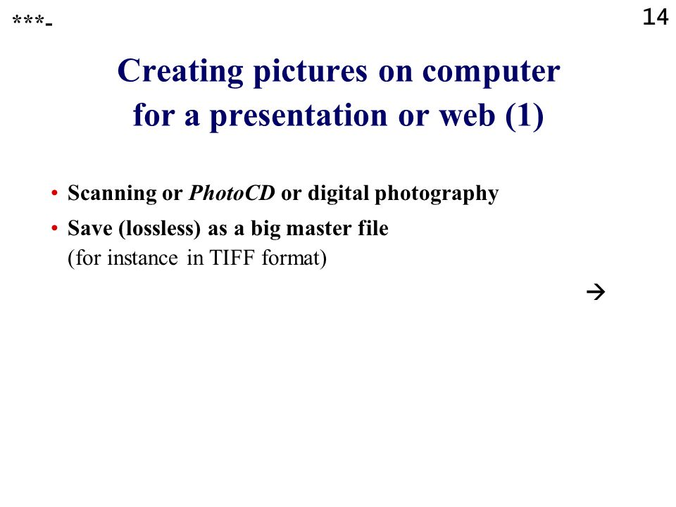 Creating pictures on computer for a presentation or web (1)