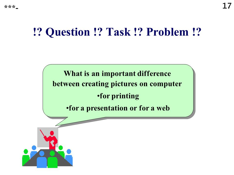 ! Question ! Task ! Problem ! ***-