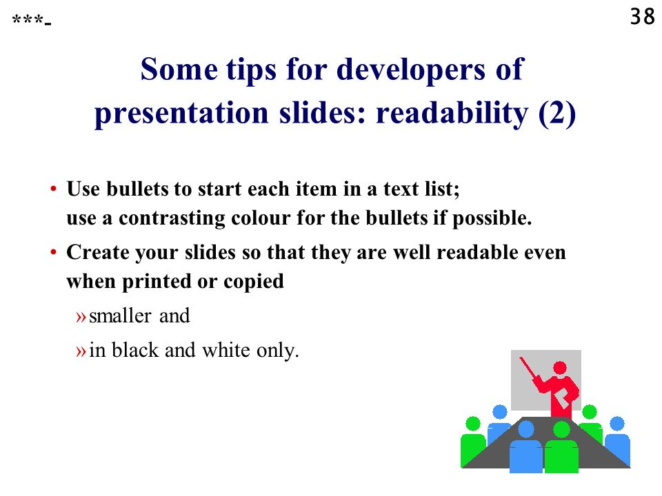 Some tips for developers of presentation slides: readability (2)