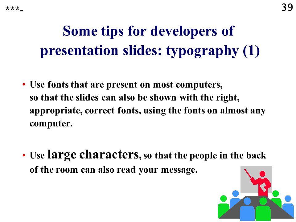 Some tips for developers of presentation slides: typography (1)
