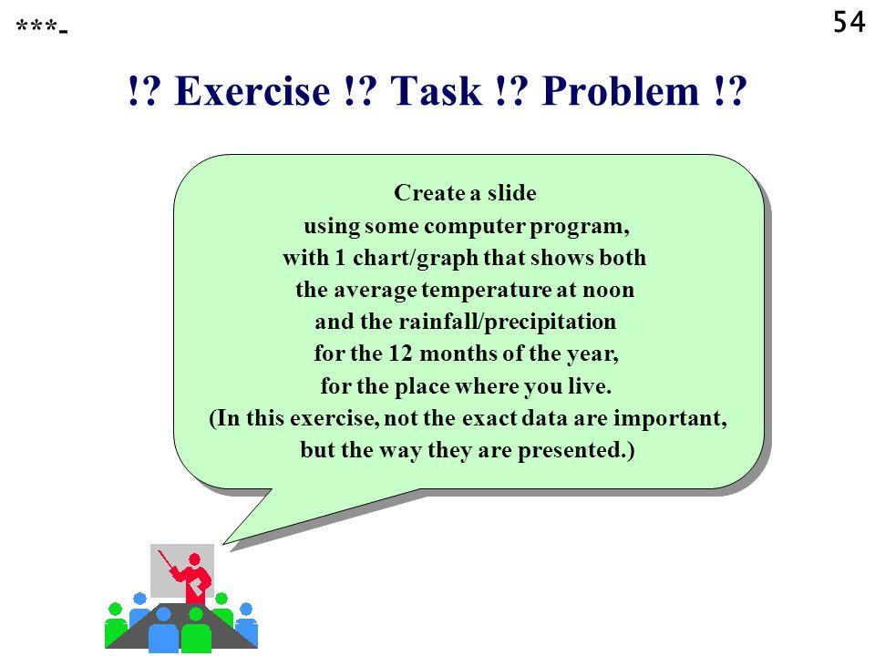 ! Exercise ! Task ! Problem ! 54 ***-