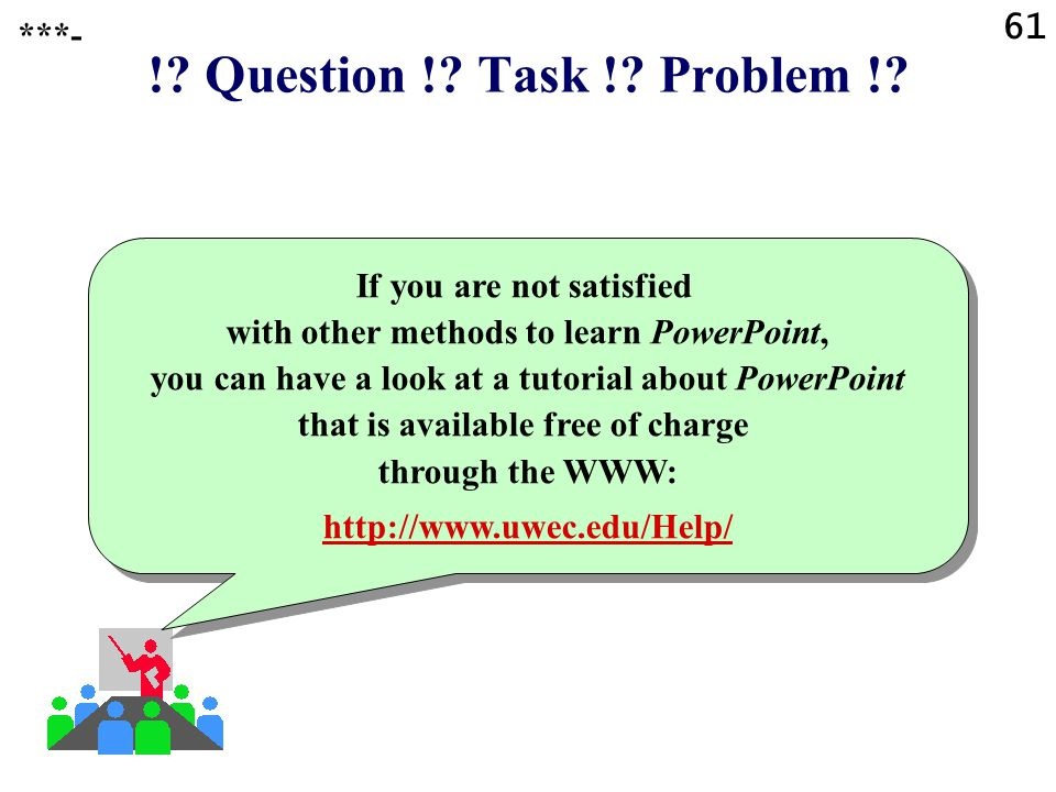 ! Question ! Task ! Problem ! 61 ***-