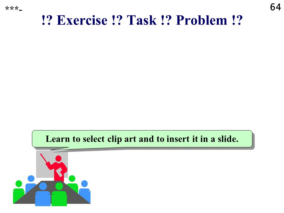 Learn to select clip art and to insert it in a slide.
